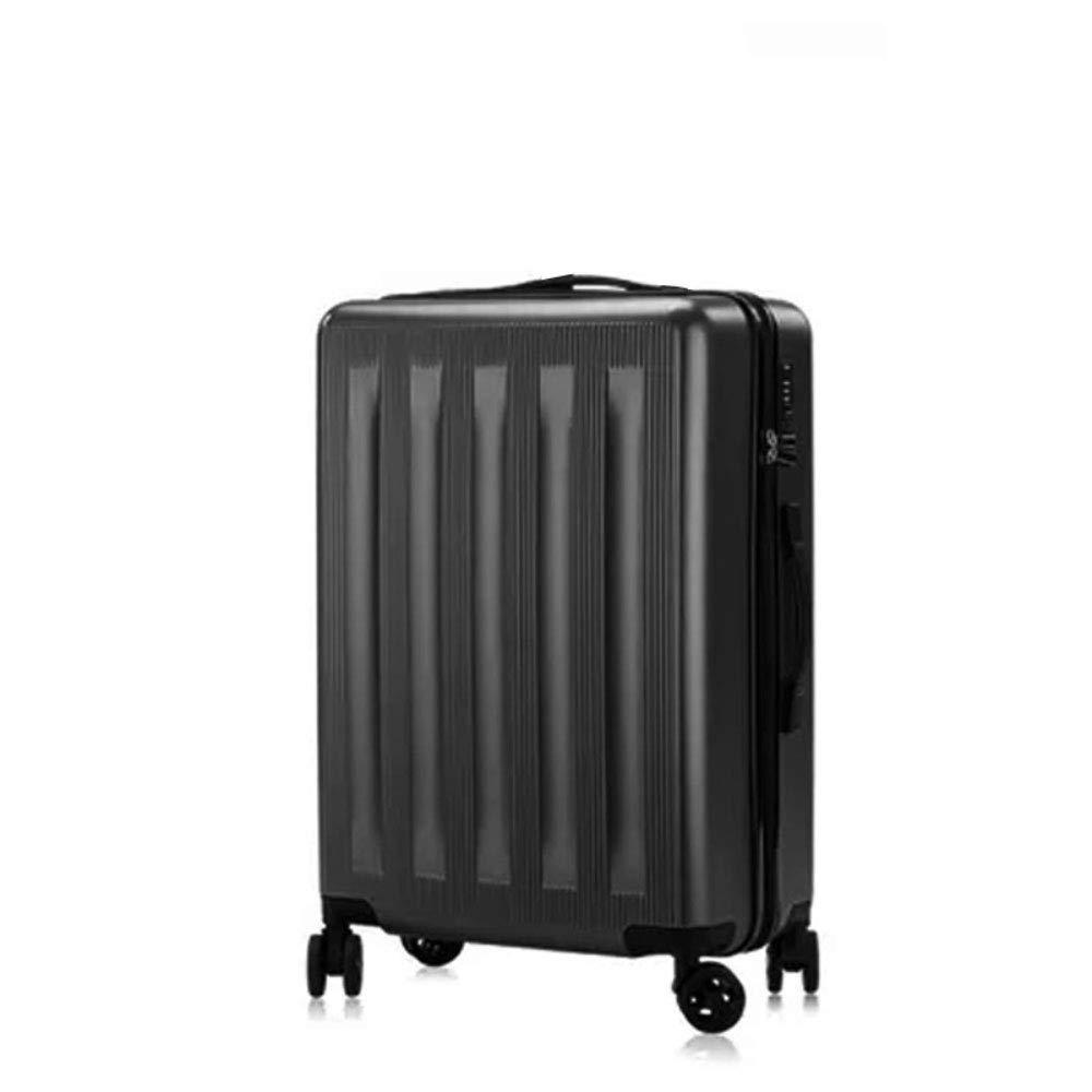 トロリーケース20/24インチ耐傷性耐摩耗性アルミニウムフレームキャスタースーツケース (Color : ブラック, Size : 24 inches)   B07R5QRJ38