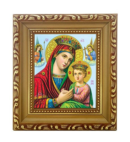 (FengMicon Virgin Mary and Baby Jesus Religious Pictures Catholic Icon)