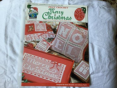 Christmas Filet Crochet - Filet Crochet Merry Christmas - CFT 00100