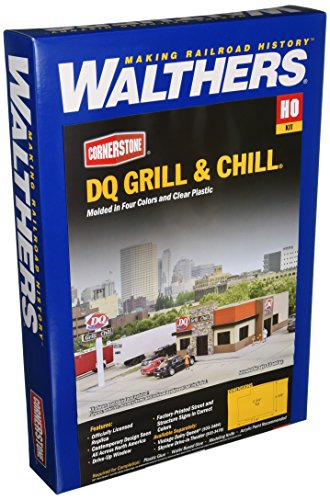 """Walthers, Inc. DQ Grill & Chill Kit, 7-1/4 X 5-3/8 X 2-3/4"""" 18.4 X 13.6 X 6.9cm from Walthers, Inc."""