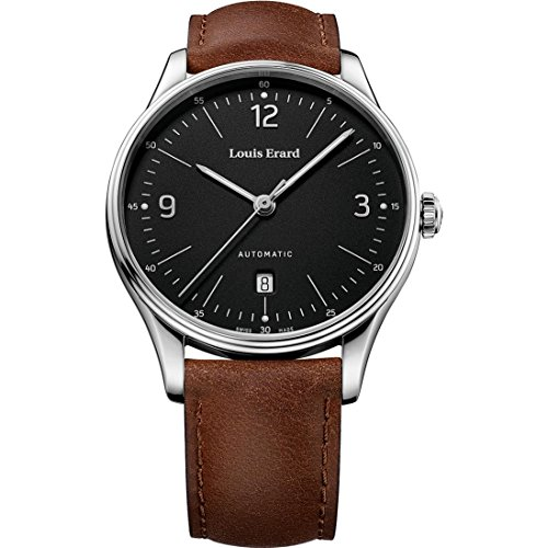 LOUIS ERARD MEN'S HERITAGE 41MM LEATHER BAND AUTOMATIC WATCH 69287AA02.BAAC82