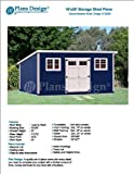 10' x 20' Deluxe Back Yard Storage Shed Project Plans / Do it yourself, Modern Roof Style Design #D1020M