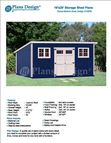 10 x 20 deluxe back yard storage shed project plans do it 10 x 20 deluxe back yard storage shed project plans do it yourself solutioingenieria Gallery