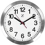 Zoyer - Reloj de Pared, Plateado, 30,48cm, 1