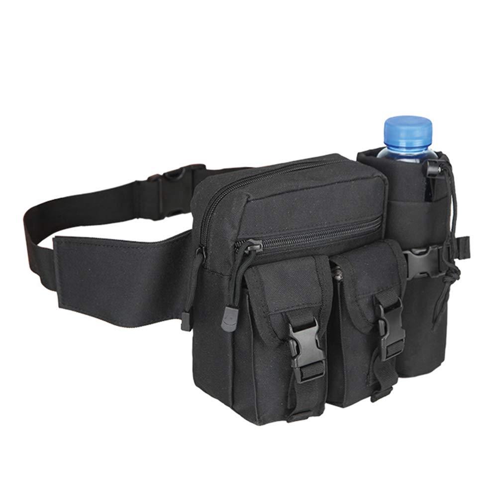 Youkara Fanny Pack Running Waist Bag Festival Waterproof Waist Pack Runner Belt Race Belt Outdoor Pocket Workout Pouch Bumbags with Water Bottle for Men//Women Black