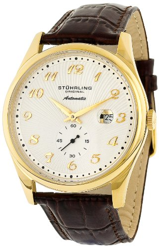 Stuhrling Original Men's 171A.3335E2 Classic Cuvette 44 Slim Automatic Date Watch