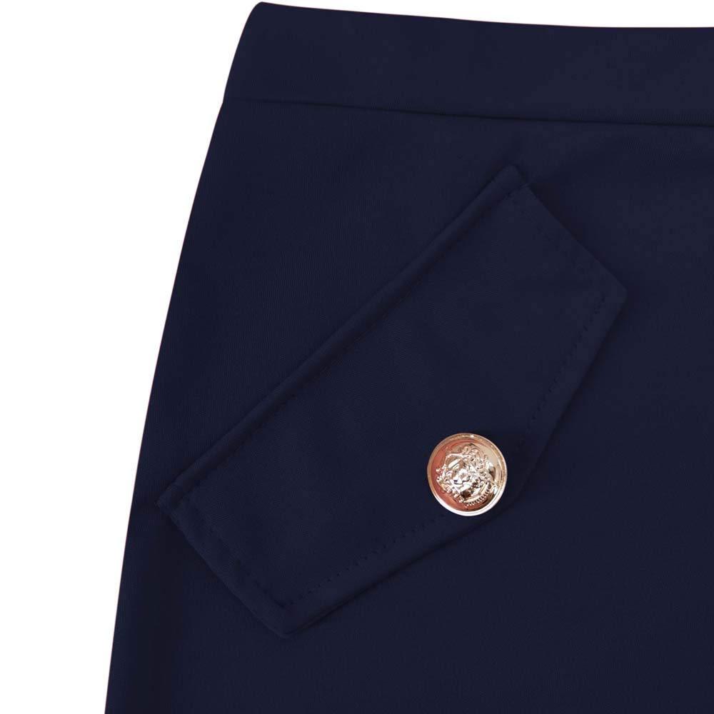 MVPKK Faldas Mujer Mujer Falda Midi de Algod/ón Recto B/ásica Multifuncional Corto Falda Falda De Cintura Alta con Botones El/áStica Mini Falda Invierno//Primavera Vestido Corto Ajustado