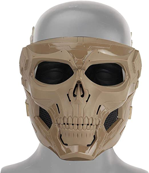 FOONEE Máscara de calavera para airsoft, disfraz con gafas de ...