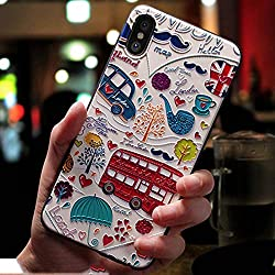 Mariahanan 3d Emboss Cartoon Pattern Phone Case For Apple Iphone X 7 8 6 6s Plus Cases Soft Silicone Back Cover For Iphone 10 Coque Bus For Iphone Xs Mas