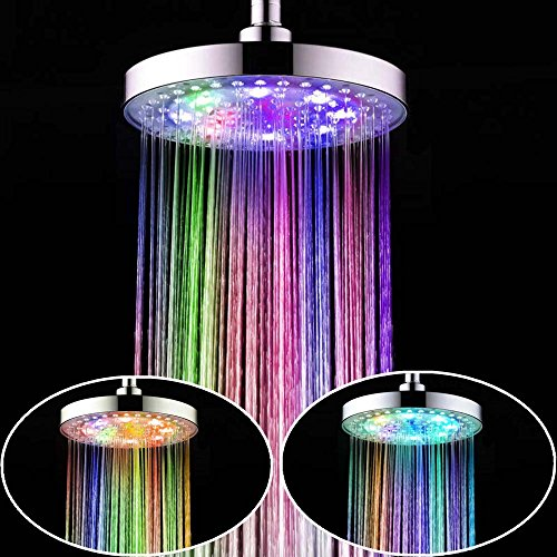 8 Inch 7 Colors Changing LED Shower Head - 4