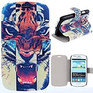 GJY Fierce Tiger Pattern PU Leather Full Body Case with Card Slot for Samsung S3 Mini I8190N