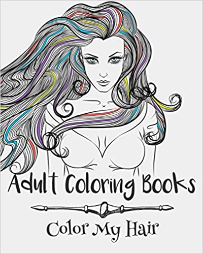 Book Adult Coloring Books: Color My Hair