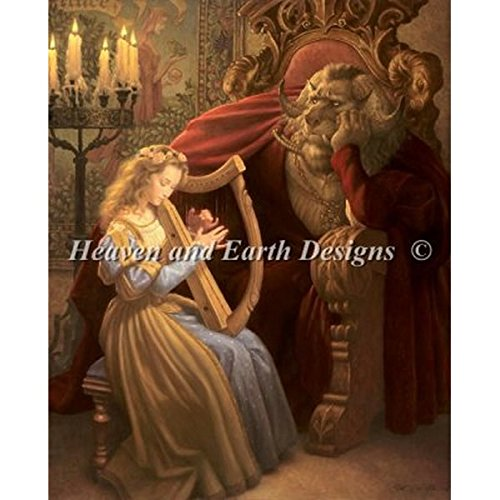 Heaven And Earth Designs(HAED) クロスステッチキット Beauty and The Beast [並行輸入品] B0149K7W02