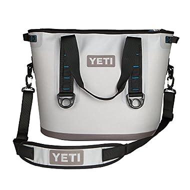 YETI Hopper 30 Portable Cooler Fog Gray / Tahoe Blue