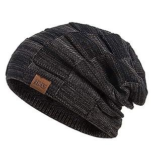 REDESS Beanie Hat pour Hommes et Femmes Hiver Chaud Chapeaux Tricot Slouchy épais Crâne Casquette