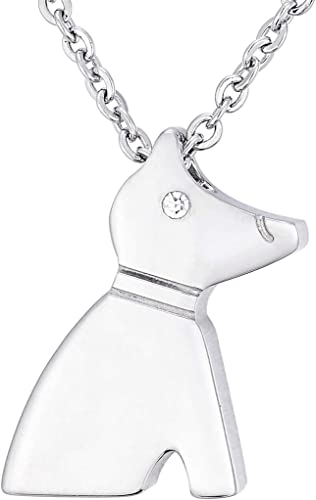 "Collar Colgante de Plata Cadena de Moda Dogbone 17/"" Caja de Joyas"