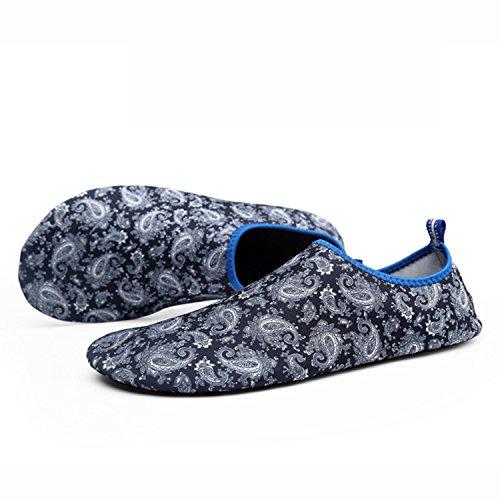 Xylxyl Multifunctional Wasser Schuhe, leichte flexible Quick Dry Aqua Socken für Männer und Frauen Grau