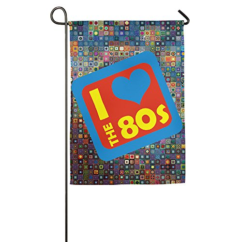 Images 80s Costumes (Hot Seller I Love The 80's Garden Flag&Decorative Flag For Wedding Home Outdoor Garden/Anniversary Home Outdoor Garden Decor/Campsite Flag/Camper Decor 18×27 Inch Big&Small 12×18 Inch)