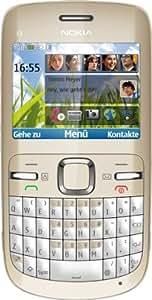 """Nokia C3 - Móvil libre (pantalla de 2,4"""" 320 x 240, cámara 2 MP, 55 MB de capacidad, teclado alemán QWERTZ) color blanco"""