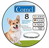 """Dog Flea Treatment Collar - Comcl Flea and Tick Prevention for Dogs Collar - Water Resistant Hypoallergenic Flea Treatment Tick Control Collar for Dog - 25""""Adjustable 8 Months Protection"""