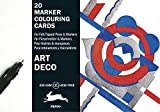 Art Deco: Marker Colouring Cards Book (English, Spanish, French and German Edition)