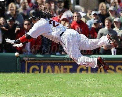 Manny Ramirez Boston Red Sox dive base running 8x10 11x14 16x20 photo 377 - Size - Boston Running Stores