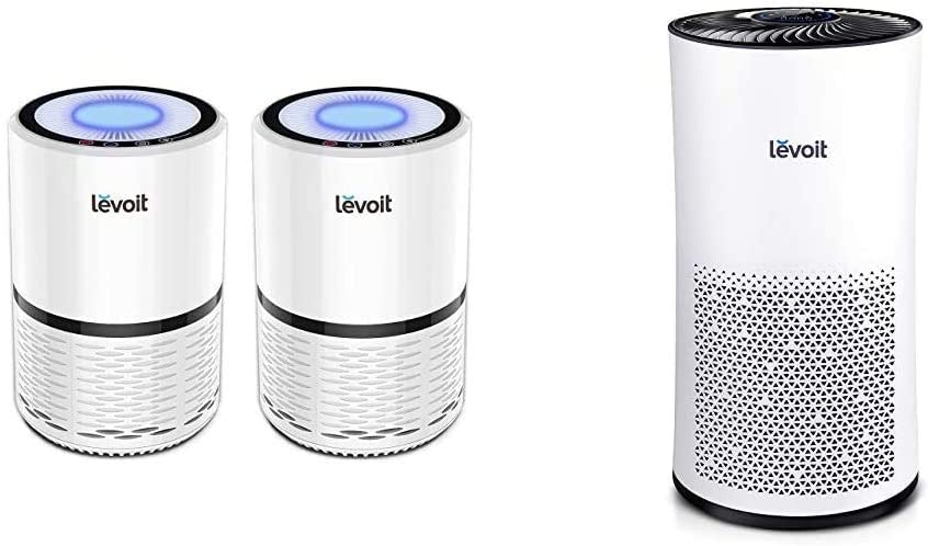 LEVOIT Air Purifier for Home Smokers Allergies and Pets Hair, True HEPA Filter, 2PACK & Air Purifier for Home Large Room with H13 True HEPA Filter, Air Cleaner for Allergies and Pets, Smokers,Mold