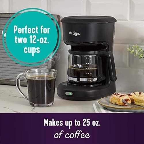 Mr. Coffee 2129512 ® 5-Cup Mini Brew Switch Coffee Maker, Black