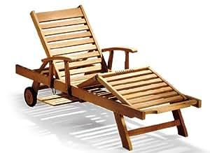 Janti-tumbona de madera con reposabrazos y Cojín con forma de cabeza y piernas reclinables para viajeros, verde