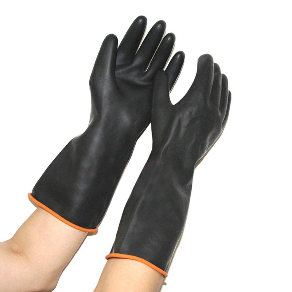 HDTLJXX Guanti Anti-Mordenti Addensare Emulsione Morso Anti-Cane Impermeabile Animali Domestici di Base, Resistenza allo Strappo Durevole Materiale di Gomma,55Cm