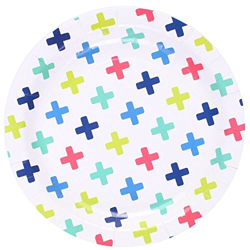We Love Sundays Crosses Paper Plates | 10-Pack | Great for Various Themed Parties by We Love Sundays