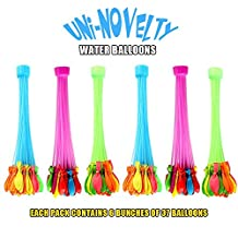 Water Balloons by UNI-Novelty, Fill in 60 Seconds, 222 pcs Water Balloons(Random Colors)