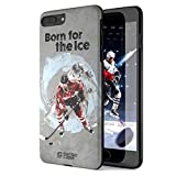 iPhone 7/8 Plus Case, Born For Hockey. Sensocase Premium Extreme Sports Unique Designer Tough Shell Thin Cover. Luxury, Anti-Fingerprint, Anti-Scratch Stylish Slim Protective Apple 7/8 Plus.