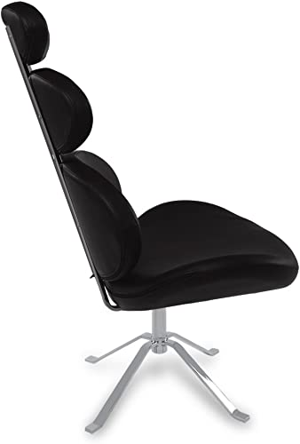 Zuri Furniture Pebble Modern Swivel Occasional Chair – Black