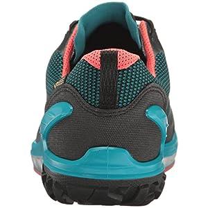 ECCO Women's Biom Venture Gore-Tex Hiking Shoe, Black/Capri Breeze/Coral Blush, 39 EU/8-8.5 M US