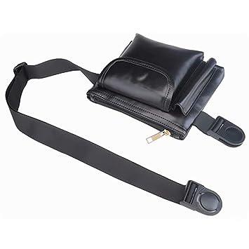 788816a26921 Amazon.com: Hotpaint Black Elegant Fanny Pack, Cute Leather Belt ...