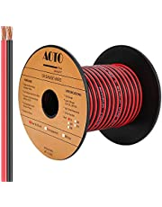 AOTORUA 50FT 18/2 Gauge Red Black Cable Hookup Electrical Wire, 18AWG 2 Conductor 2 Color Flexible Parallel Zip Wire LED Strips Extension Cord 12V/24V DC Cable for LED Ribbon Lamp Tape Lighting
