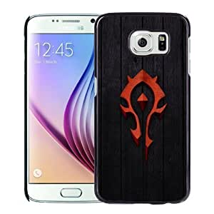 Fashion DIY Custom Designed Samsung Galaxy S6 Phone Case For Red World of Warcraft Horde Badge Phone Case Cover