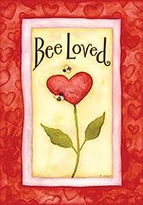 """Toland Home Garden 118049 Bee Loved 12.5 X 18"""" Decorative USA-Produced Garden Flag"""