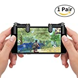 Mobile Game Controller, AmyHomie Sensitive Shoot and Aim Buttons L1&R1 for PUBG/Fortnite/Rules of Survial, Cell Phone Gams of Survial, Cell Phone Game Controller for Android IOS(1 Pair)