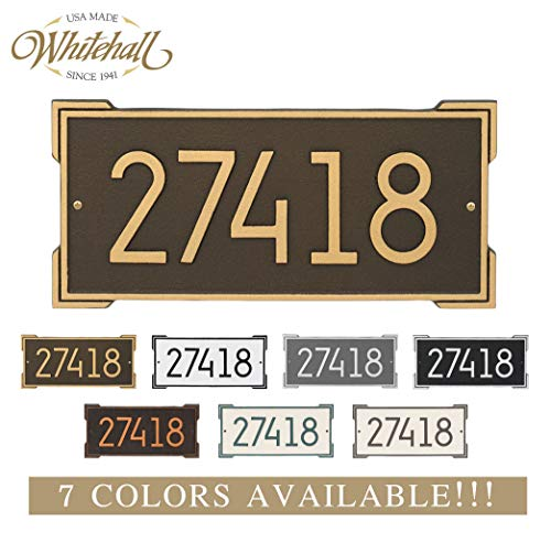 Metal Address Plaque Personalized Cast The Roanoke Plaque. Display Your Address. Custom House Number Sign.