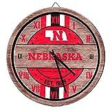 FOCO Nebraska Cornhuskers NCAA Barrel Wall Clock
