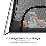 BABY JOY Baby Foldable Travel Crib, 2 in 1 Portable