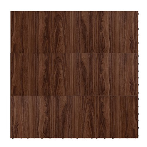 "Swisstrax ¾"" thick Interlocking ""Hardwood"" Floor Tiles (4' x 4' Section) - Dance Floors, Office Areas, Event Floors & more! (Medium Maple) by Swisstrax"