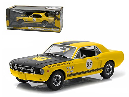 1967 Ford Terlingua Continuation Mustang #67 Jerry Titus & Ken Miles Racing Tribute Edition 1/18 Model Car by - 67 Ken