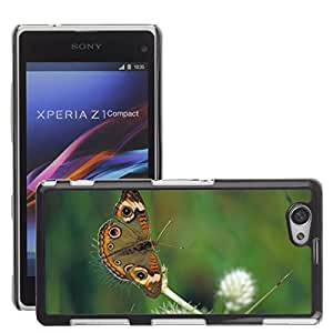 Hot Style Cell Phone PC Hard Case Cover // M00113669 Butterfly Common Buckeye Plant Insect // Sony Xepria Z1 Compact D5503