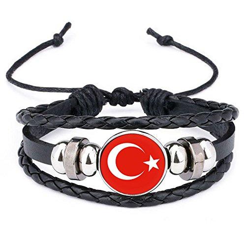 Ndier Armbänder der Türkei Silikon Wristband und Ein Leder Gewebt PU Armband Geflochten für 2018Weltmeisterschaft