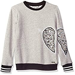 Girls' Big Sequin Fleece Top