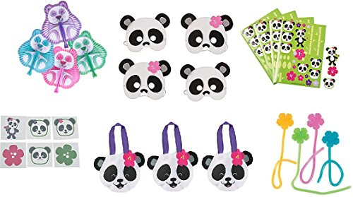 Panda Party Favor Bundle For 12