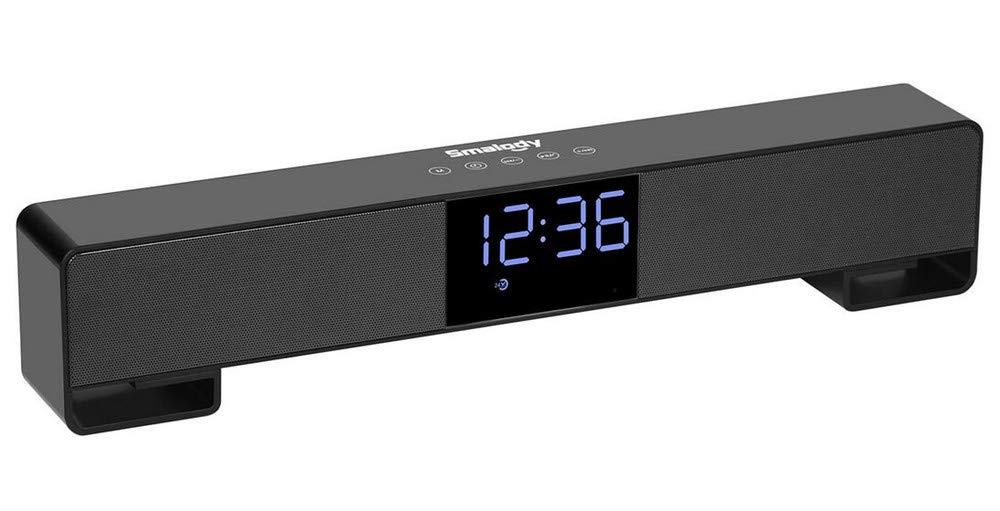 QTMY Surround Sound Bar Soundbar Loud TV Speakers,Wireless Bluetooth Audio Stereo Desktop Speakers